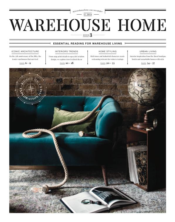 Warehouse Home Magazine November 2015 Cover Celestial Globe